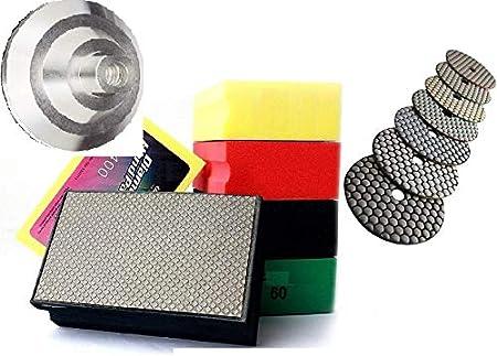"11 Pieces 4/"" 5/"" 7/"" Aluminum Backer Pad 5//8-11 Thread for Diamond Polishing Pad"