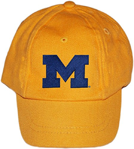 (University of Michigan Wolverines Baby and Toddler Baseball Hat Gold)