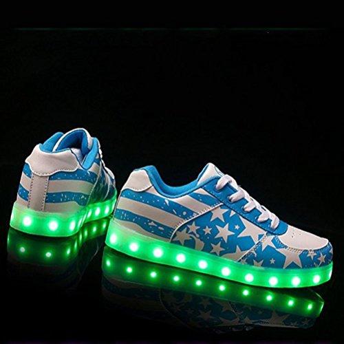 (Present:kleines Handtuch)JUNGLEST® Blink Led schuhe Blau Unisex Leuchtschuhe Sneaker Turnschuhe für Abschlu Blau