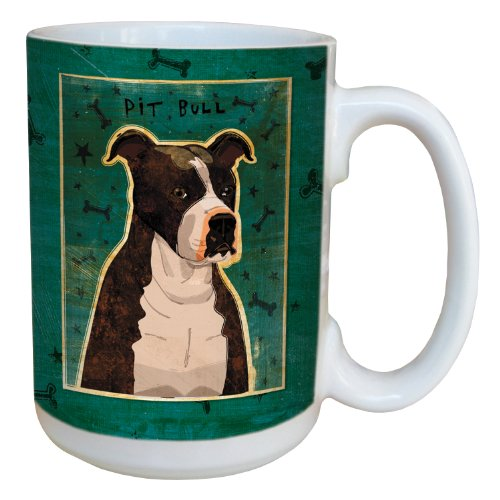 (Tree-Free Greetings sg44016 Brindle Pit Bull by John W. Golden Ceramic Mug with Full-Sized Handle, 15-Ounce)