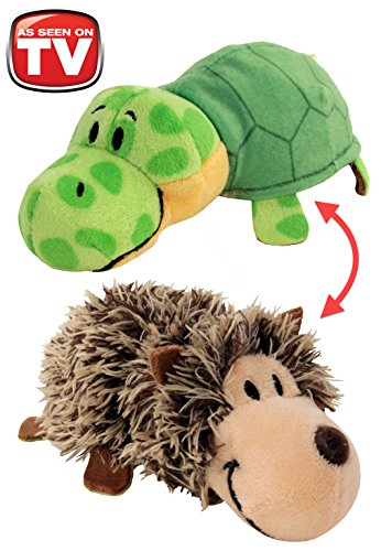 FlipaZoo's Little FlipZee 5' Pocket Size Plush Figure - Hedgehog Transforming To Turtle (the Toy That Flips For You)