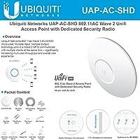 Ubiquiti Networks UniFi AC SHD UAP-AC-SHD 802.11AC Wave 2 Unifi Access Point with Dedicated Security Radio