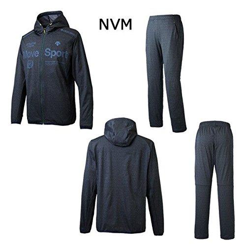 デサント DESCENTE タフスウェット フーデッドジャケットロングパンツ 上下セット DMMLJF12 DMMLJG12 B07921HQWD M|NVM×NVM NVM×NVM M