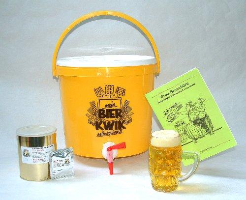 Das Bier Brau Set für Zuhause Heimbrauen für bis zu 25 Liter Helles Bier, fertiges Set