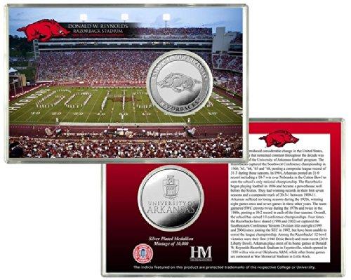 Arkansas Razorback Stadium Silver Coin Card