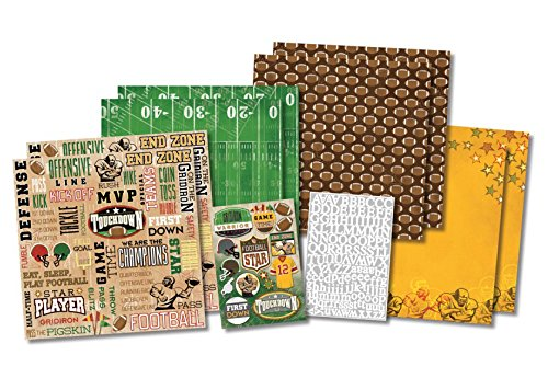 Star Page Kit - Football Star Scrapbook Page Kit 12