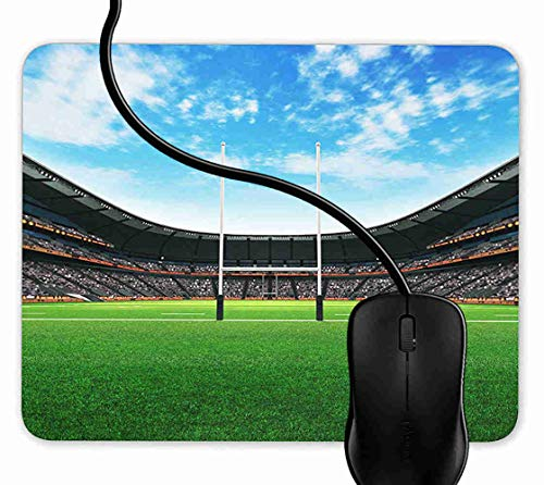 Mouse Pad Gaming Rugby Pitch RFC Stadium,9.25X7.75 inch Non-Slip Rubber Mousepad Mat for Desktops, Computer, PC and Laptops 1F2183