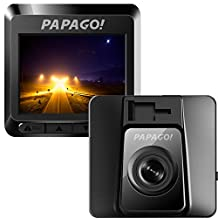 Papago Car Dash Camera GoSafe 388 Full HD Dash Cam 1080P Car DVR with GPS option, Night Vision ,Free 8GB Micro SD Card GS3888G, Black