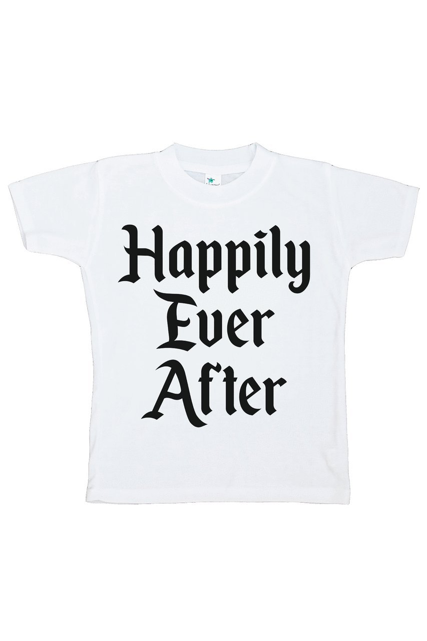 Custom Party Shop Girl's Happily Ever After Wedding T-shirt Medium