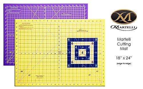 Martelli 18'' x 24'' Medium Self Healing Contrasting Cutting Sewing Mat