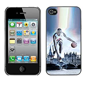 BasketCase Kevn Durant London 2012 Olympics Apple Iphone 4 / 4S / / Slim 360 Protection Case Cover PC / Aluminium Protector Shell Rugged