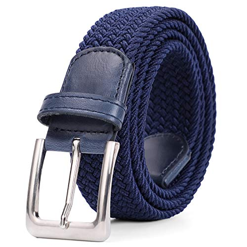 Braided Elastic Belt for Men/Women/Junior,Canvas Stretch Fabric Woven Stretch Multicolored Braided Belts by Whippy