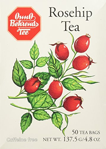 Onno Behrends Rosehip Tea, 50 tea bags (4.8oz) - pack of 4 (Rose Hips Tea Bags)