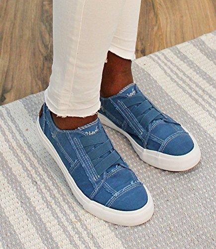 Blowfish Women's Marley Sneaker, Blue, 8 Medium US