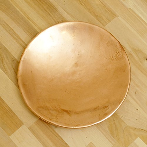 23.5 cm Copper plate / tray / dish / disk || vintage copper simple design handmade artcraft - Hammered Copper Disc