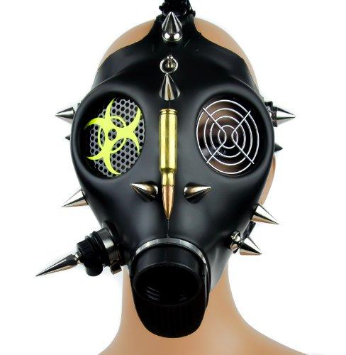 [Bio Hazard Cyber Punk Bullet Spike Cosplay Mask Costume Halloween] (Biohazard Costumes)