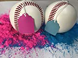 Gender Reveal Baseballs (2-Count) Blue and Pink Powder Included! Great for Family Fun, Outdoor Activities, Baby Shower Ideas, Sex-Reveal Parties, and Gender Reveal Events
