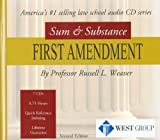 Weaver's Sum and Substance Audio Set CD on First Amendment, Weaver, Russell L., 0314170774