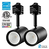 2 Pack 8.5W (50W Equiv.) Integrated CRI90+ LED Black Track Light Head, Dimmable 38° Spotlight Track Light, 500lm Energy Star ETL Listed for Retail Accent Art Exhibition Lighting, 4000K Cool White