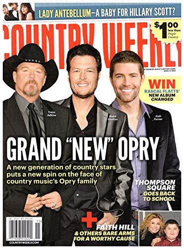 Country Weekly Magazine - Country Weekly Magazine April 9 2012 Trace Adkins Blake Shelton Josh Turner Faith Hill Lady Antebellum