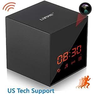 LIZVIE HD Hidden Spy Clock Nanny Camera with Enhanced Night Vision, Wireless Speaker, Motion Detection, Invisible Lens, Video Recorder, FM Radio, 12&24 Alarm Clock(Pro Version)