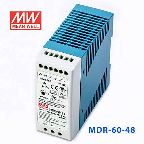 Meanwell MDR-60-48 Power Supply - 60W 48V 1.25A - Miniature