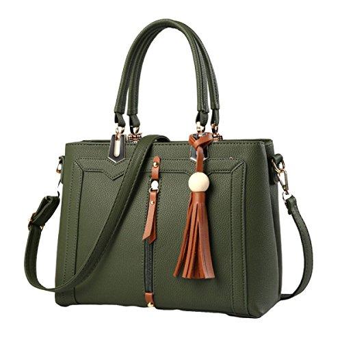 Señoras Europeas Y Americanas Estilo Bolso De Moda Salvaje Bandolera Messenger Bag Green