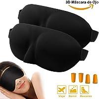 Antifaz para Dormir, 3D Anti-luz Antifaces para Dormir/Máscara para Dormir/Máscara de Ojos Para Dormir Fabricado con Espuma de Memoria con Ajustable Correa Adecuados