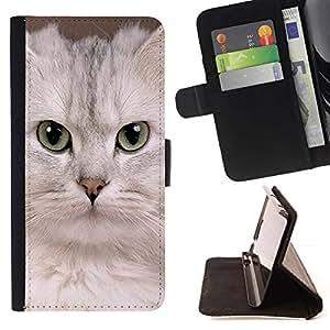 Momo Phone Case / Flip Funda de Cuero Case Cover - Blanca Singapur Gatito Gato Devon; - Samsung Galaxy Note 3 III