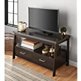 Mainstay* 1 Shelf Storage And 2 Drawer TV Stand for TVs up to 47 with 2 Drawers in Espresso