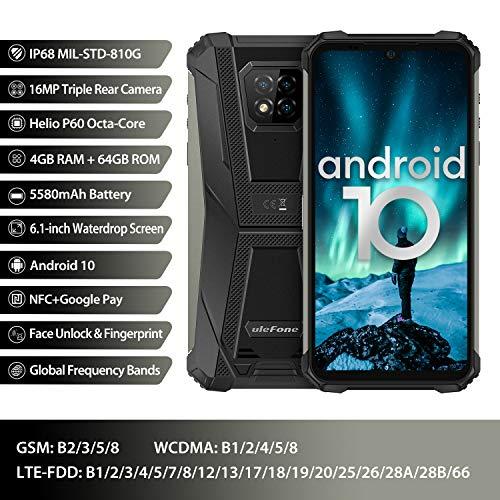 Écran 6,1 Pouces 4Go+64Go Octa-Core Telephone Portable 4G, Ulefone Armor 8 Smartphone Incassable Androud 10 5580 mAh… 2