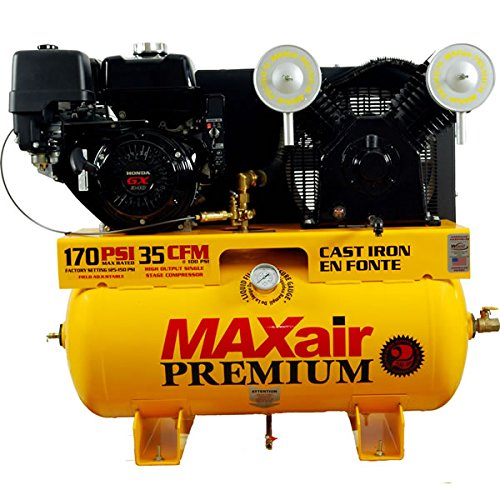 MAXair 11G30TRKE-H-MAP 11-HP Truck Mount Air Compressor with Honda Engine and Electric Start (30 Gallon Tank)