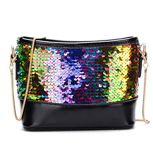 Shoulder Bag Pu Leather Handbags For Girl Flada Sequined Handbag Crossbody Summer Fashion For Everyday Style 1 Style 2