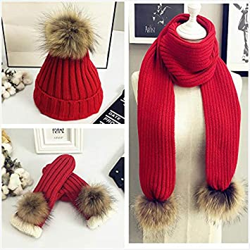 Winter Warm Knit Hat Scarf and Glove Set Ladies Hat Scarf and Glove Set 3  in 1 Winter Cold Gift Set d6956347ccc6