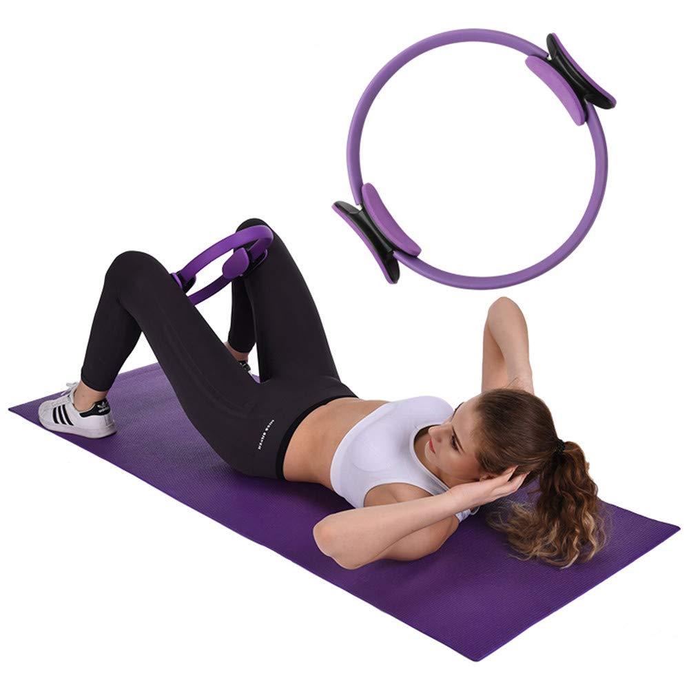 aro de Yoga para Mujer zhuangyulin6 C/írculos de Yoga Profesional Gris Anillo de Doble asa de Pilates Anillo de Pilates con asa c/írculo de Ejercicio m/ágico de Doble Agarre