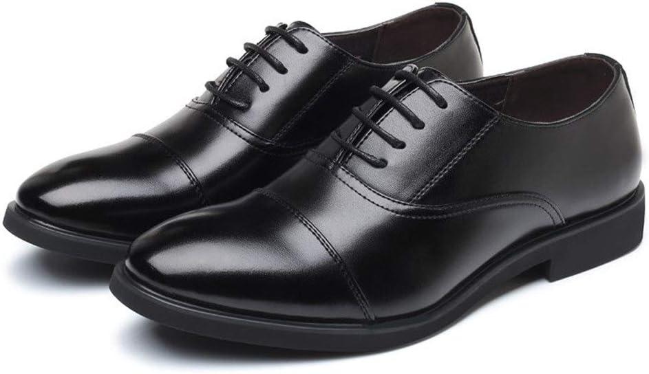 Couleur : Noir, Taille : 38 EU Jingkeke Chaussures Classiques for Hommes de Captoe Oxford Classiques for Hommes en Cuir synth/étique Noir Synthesis Chaussures /à Lacets Talon Talon Accrocheur Mode