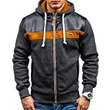 Men's Fleece Cardigan Hooded Fashion Warm Sweater Winter Coat