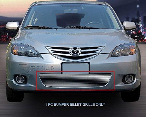 Fedar Lower Bumper Overlay Billet Grille Insert for 2004-2006 Mazda 3 Sport Hatchback Models (Lower Overlay Bumper)