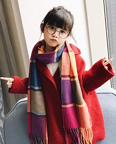 Danna Belle Kids Fashion Scarves Grid Winter Warm Lattice Large Scarf
