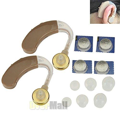 A Pair of Digital Hearing Aid Aids Kit Behind the Ear BTE...