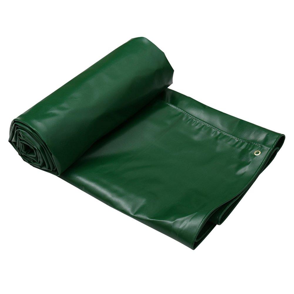 ZHANWEI ターポリンタープ Tarp テント タープ 厚い防水布オーニング 雨篷 厚い 日焼け止め オーニング 耐寒性 PVC プラスチックコーティング リノリウム トラック アウトドア、 緑 (色 : Green, サイズ さいず : 3.8x3.8M) B07FZ2F731 3.8x3.8M|Green Green 3.8x3.8M