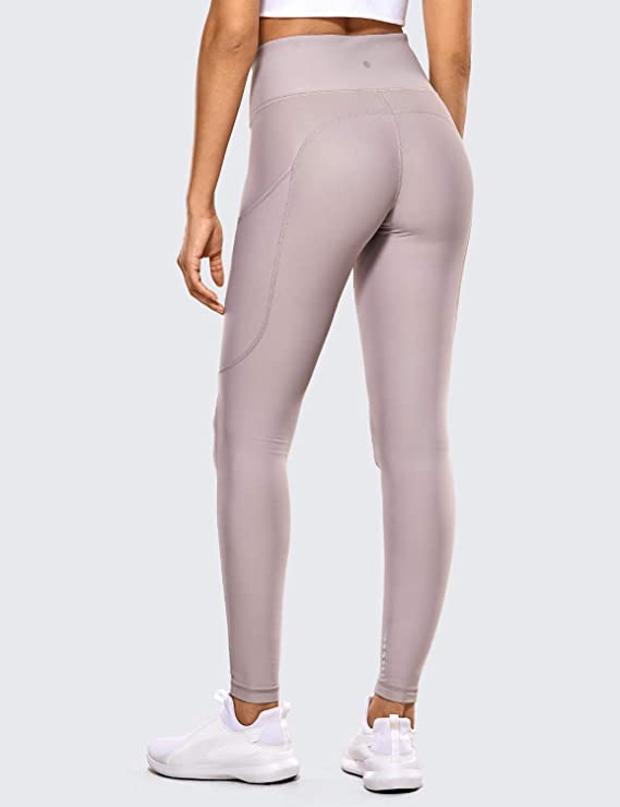 CRZ YOGA Mujer Deportivos Térmicos Forro Leggings Fitness Pantalones con Bolsillos Laterales-71cm