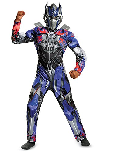 Disguise Hasbro Transformers Age of Extinction Movie Optimus Prime Classic Muscle Boys Costume, Medium/7-8