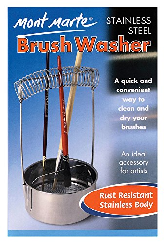 Mont Marte Brush Washer, Stainless Steel by Mont Marte