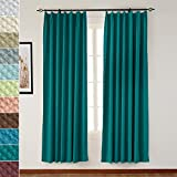 Cheap TWOPAGES Pinch Pleated 50″ W x 63″ L Jacquard Circle Window Curtain Drapery, Dark Green Bubble Wrinkle (1 Panels), For Traver Rod or Track