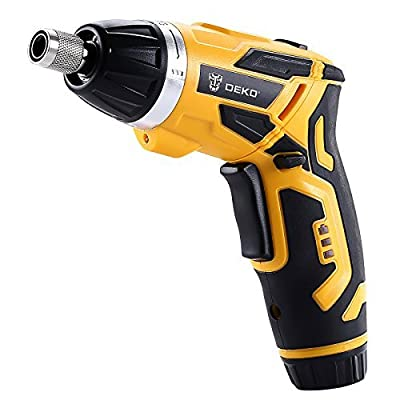 DEKO Cordless Electric Screwdriver Household 3.6V Lithium-Ion Rechargeable Power Screw Guns