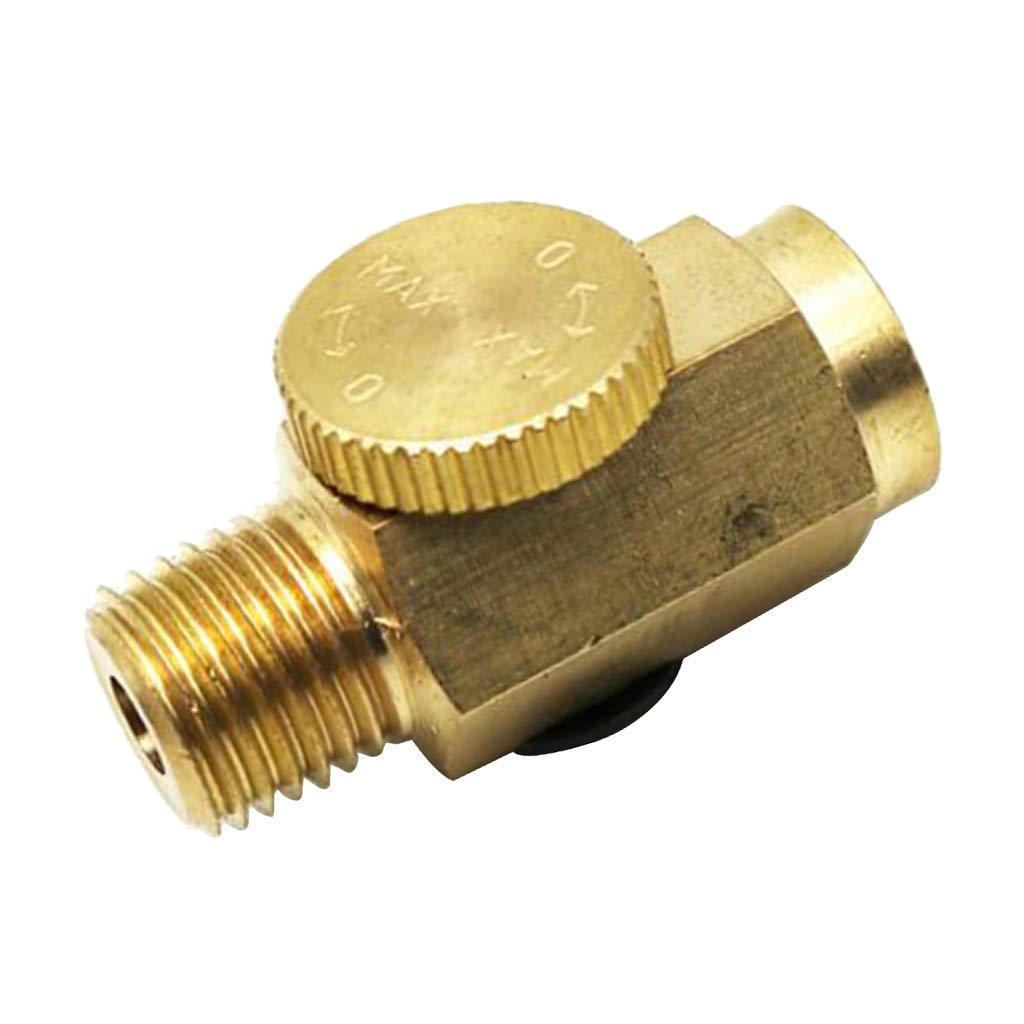 Flameer 2PCS 1//4 NPT Thumbscrew Adjustment Valve Air Flow Control Valve for Air Tools Air Compressors