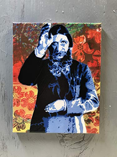 Rasputin Painting on Stretched Canvas 8x10 Inches Signed ()