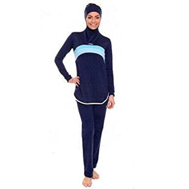 4e6d50b428 YONGSEN Modest Islamic Swimwear Women Hijab Burkini Dress Full Cover Muslim  Swimsuit Beachwear at Amazon Women s Clothing store