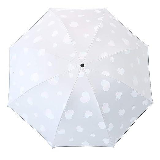 Lirener Paraguas de Cambio de Color(Patrón de corazón), Paraguas ...